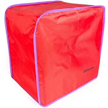 Andrew James pan eléctrica el polvo en rojo, 40 x 26 x 38 cm,