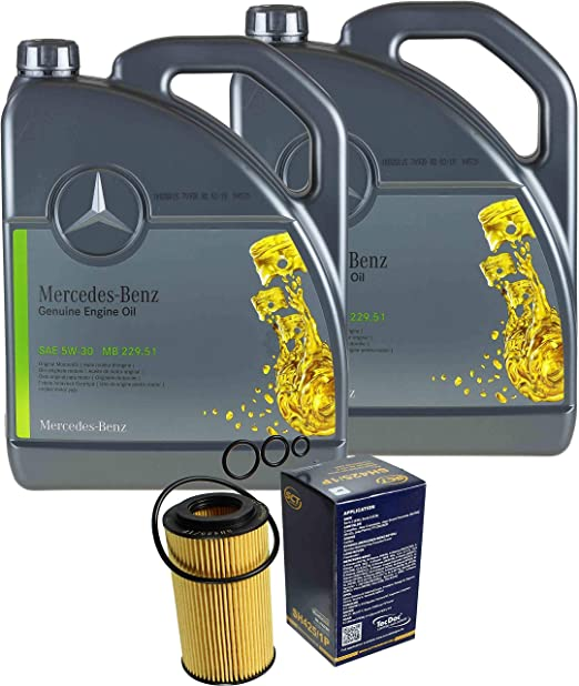 Filter Set Inspektionspaket 10 Liter Original Motoröl 5w 30 Mb 229 51 Sct Germany Ölfilter Auto