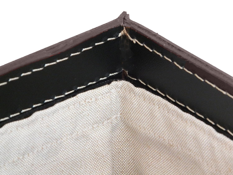 Gavemo DARIA W/äschesammler W/äschebox Fassungsverm/ögen. mit abnehmbaren Baumwoll Leinwand W/äschekorb Design Leder Farbe Dunkelbraun
