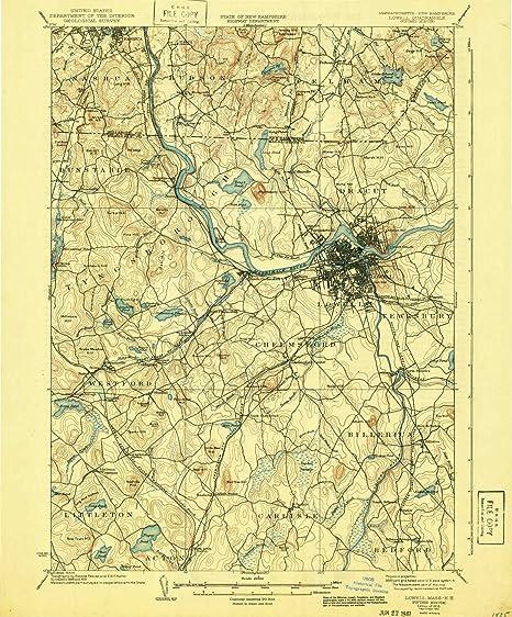 Topographic Map Massachusetts.Amazon Com Lowell Ma Topo Map 1 62500 Scale 15 X 15 Minute