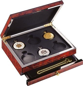 Reloj De Bolsillo De Caja para 6 relojes (sin contenido) – c334359: Amazon.es: Relojes