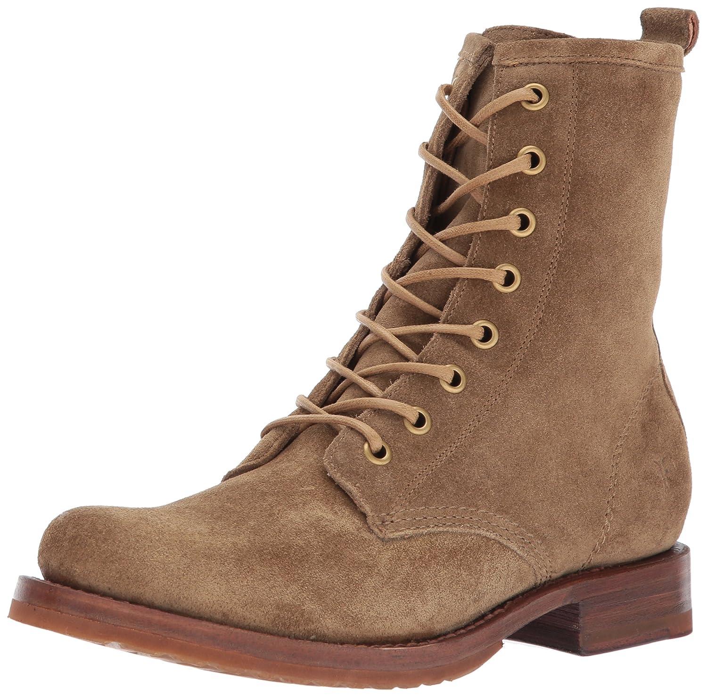 FRYE Women's Veronica Combat Boot B01N9O0WLE 6 B(M) US|Cashew Soft Oiled Suede