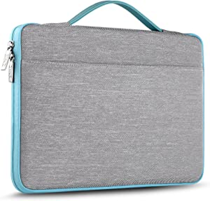 "ZINZ Laptop Sleeve 13-13.5 Inch Case Briefcase, Compatible All Model of 13.3 Inch MacBook Air/Pro, XPS 13, Surface Book 13.5"" Super Slim Spill-Resistant Handbag for Popular 14""-15"" Notebooks, Gray"
