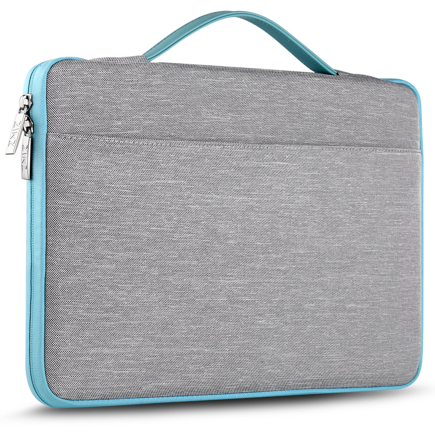"ZINZ 13 Inch Laptop Sleeve, Compatible 2018 New MacBook Air Retina A1932 | MacBook Pro 13 Inch A1706 / A1708 | Surface Pro 6 and More 13-14"" Notebook Polyester Spill-Resistant Case Bag, Gray"