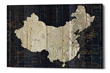 Amazon epic graffiti old world map china by wild apple epic graffiti quotold world map chinaquot by wild apple portfolio giclee canvas gumiabroncs Choice Image