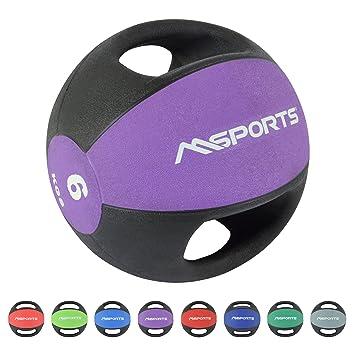 MSPORTS Balón Medicinal Premium con Asas 1 - 10 kg - Calidad de ...