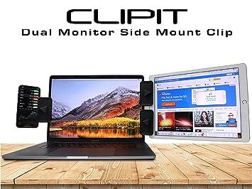 Clipit Clips de montaje lateral por Clearex. Soporte para iPad y tableta, soporte de