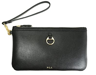 Image Unavailable. Image not available for. Color  Lauren Ralph Lauren  Allenville Genuine Leather Wristlet Black 918faf51dd