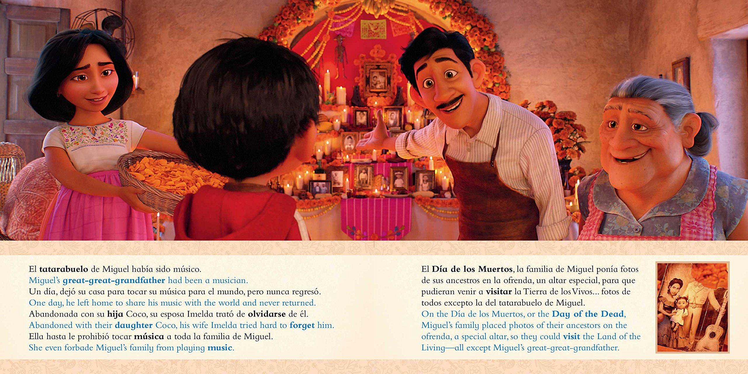 Disney/Pixar Coco: Movie Storybook / Libro basado en la película (English-Spanish) (Disney Bilingual): R. J. Cregg, Elvira Ortiz: 9781499807790: Amazon.com: ...