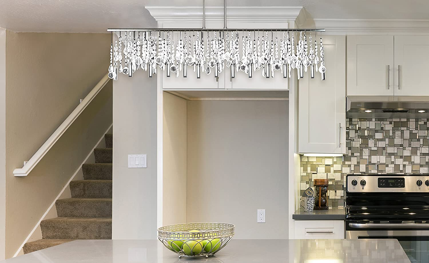 suspension by linear fresh living of hypermallapartments crystal chandelier nuevo