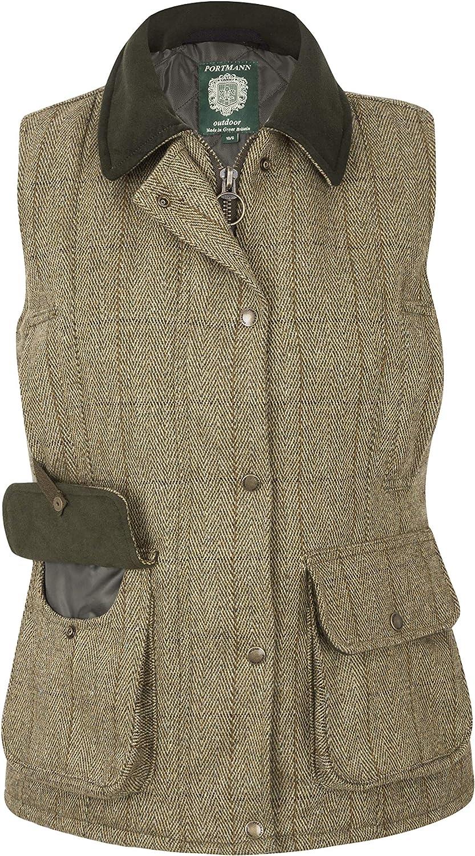 Portmann Mens Malvern Tweed Wool Gilet Body Warmer Waistcoat Vest XS to 3XL