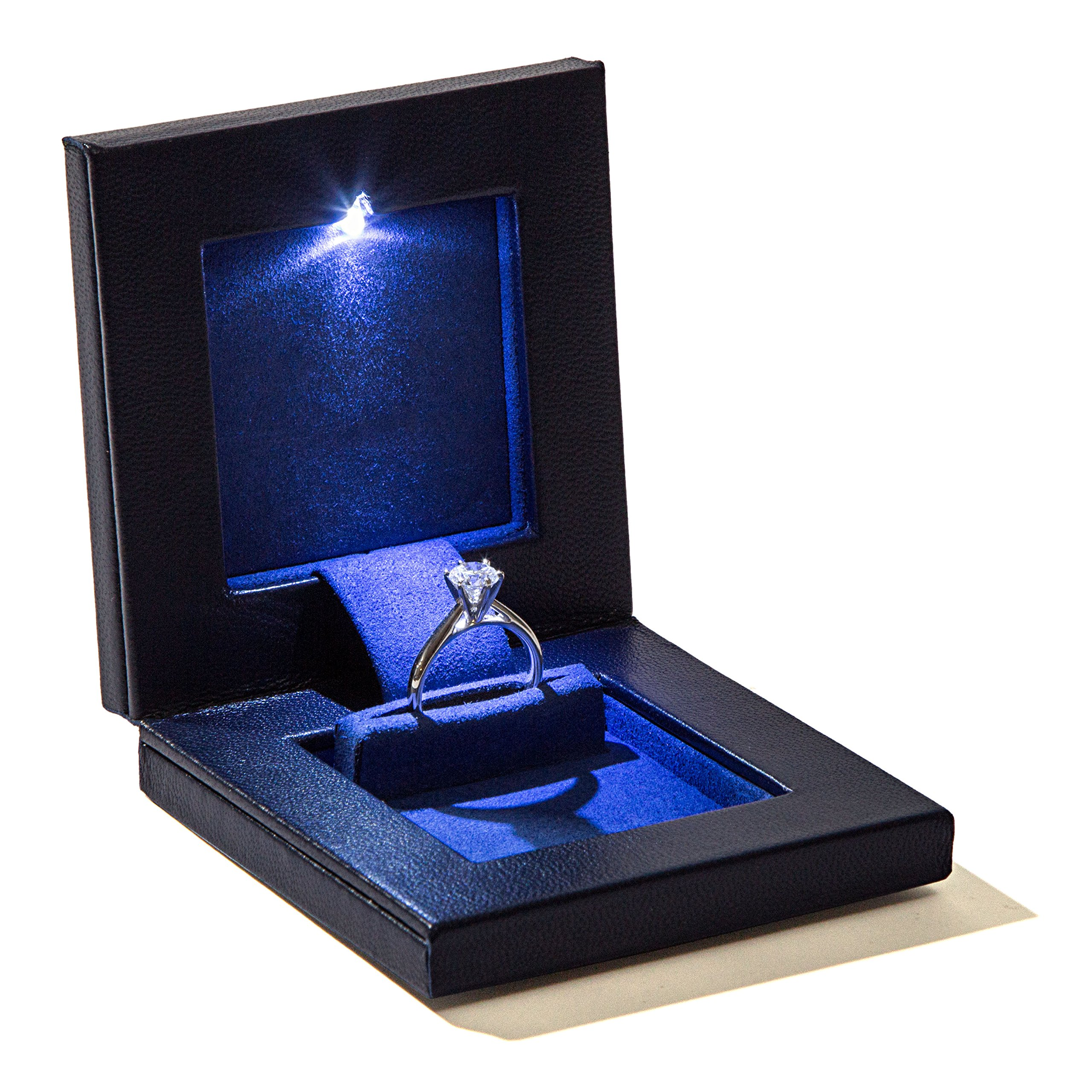 Parker Square Secret Night Box Light up LED, The World's Best Slim Engagement Ring Box by Parker Square (Image #1)