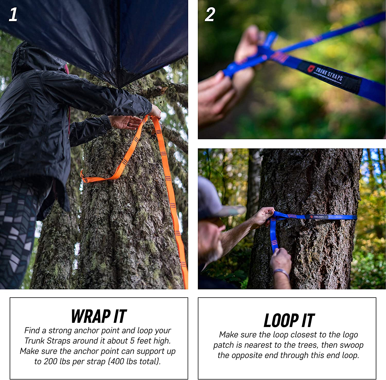 Teal Adjustable Suspension System Tree Trunk Straps with Carry Bag Included One Size Fits All Grand Trunk Hammock Straps