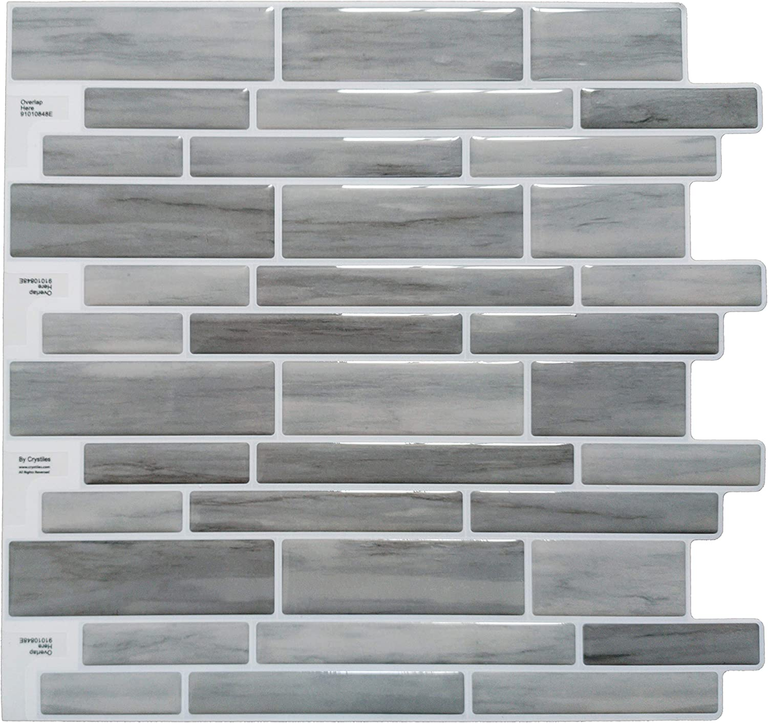 Amazon Com Crystiles Peel And Stick Diy Backsplash Tile Stick On Vinyl Wall Tile For Kitchen And Bathroom Item 91010848 10 X 10 1 Sheet Sample Home Improvement,Largest Cruise Ship In The World Compared To Titanic