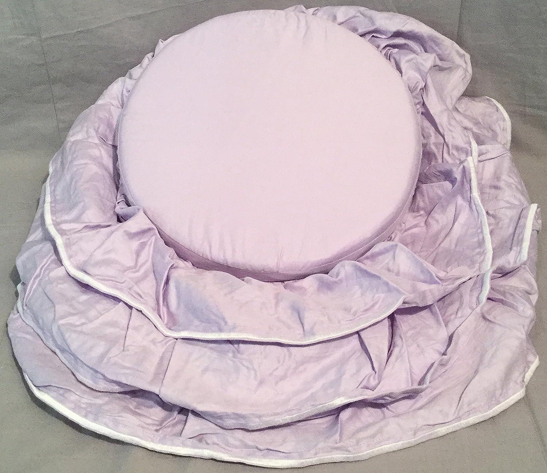 Pottery Barn Kids Lavender Ruffle Vanity Cushion