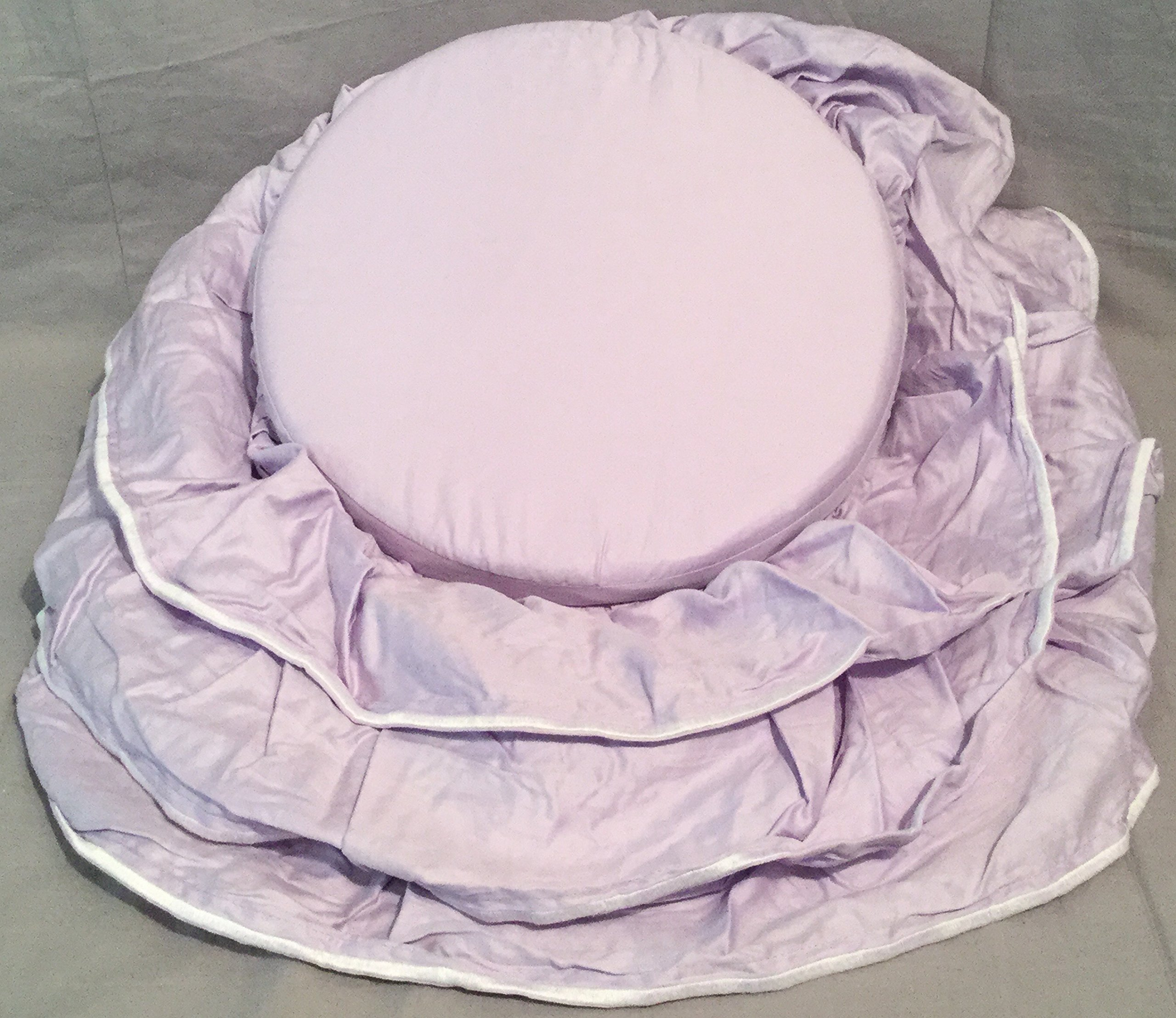 Pottery Barn Kids Lavender Ruffle Vanity Cushion by Pottery Barn Kids