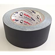 Gaffers Tape Solutions Matte Black Gaffer Tape, 2-Inch x 30-Yards, Non Reflective Black