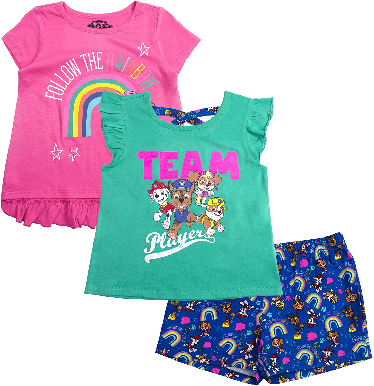Paw Patrol Little Girls Three-Piece Short Set