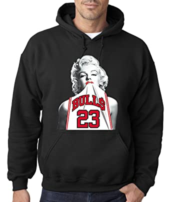 402951375680 Amazon.com  New Way 193 - Hoodie Marilyn Monroe Bulls 23 Jordan Jersey  Unisex Pullover Sweatshirt  Clothing