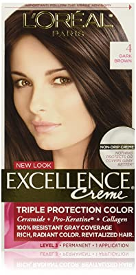 L'Oreal Paris Excellence Creme, 4 Dark Brown