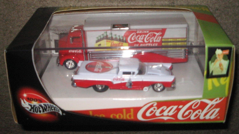 Hot Wheels Coke Coca-cola Car and Truck Vehicle Set B001JKE5XS