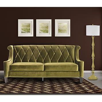 Amazon Com Armen Living Lc8443green Barrister Sofa In Green Velvet