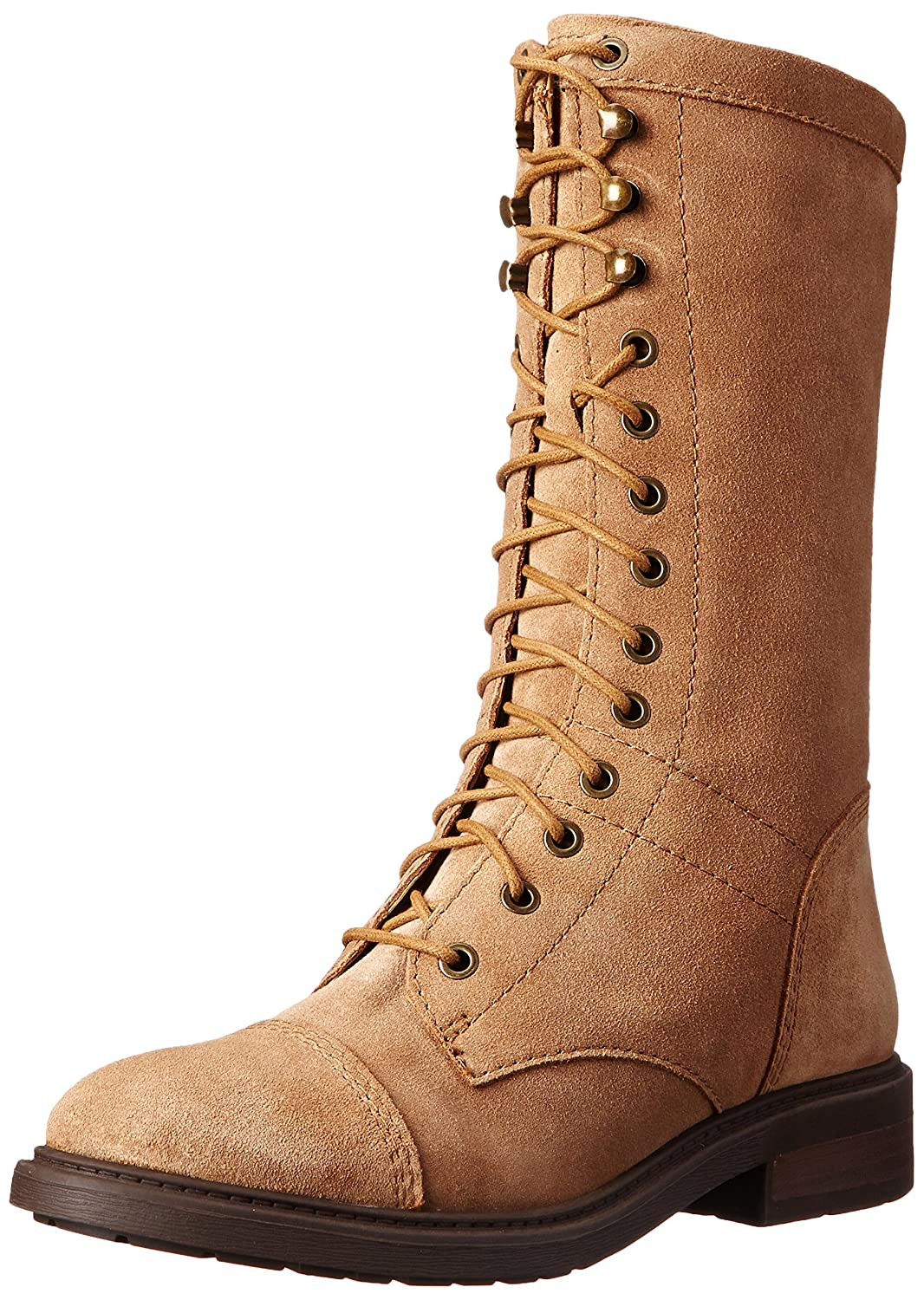 Nine West Women's Gunner Suede Lace-up Ankle Boot Dark Natural