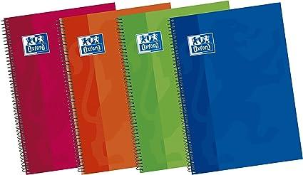 Oxford Classic 100430152 - Pack de 5 cuadernos espiral de tapa ...