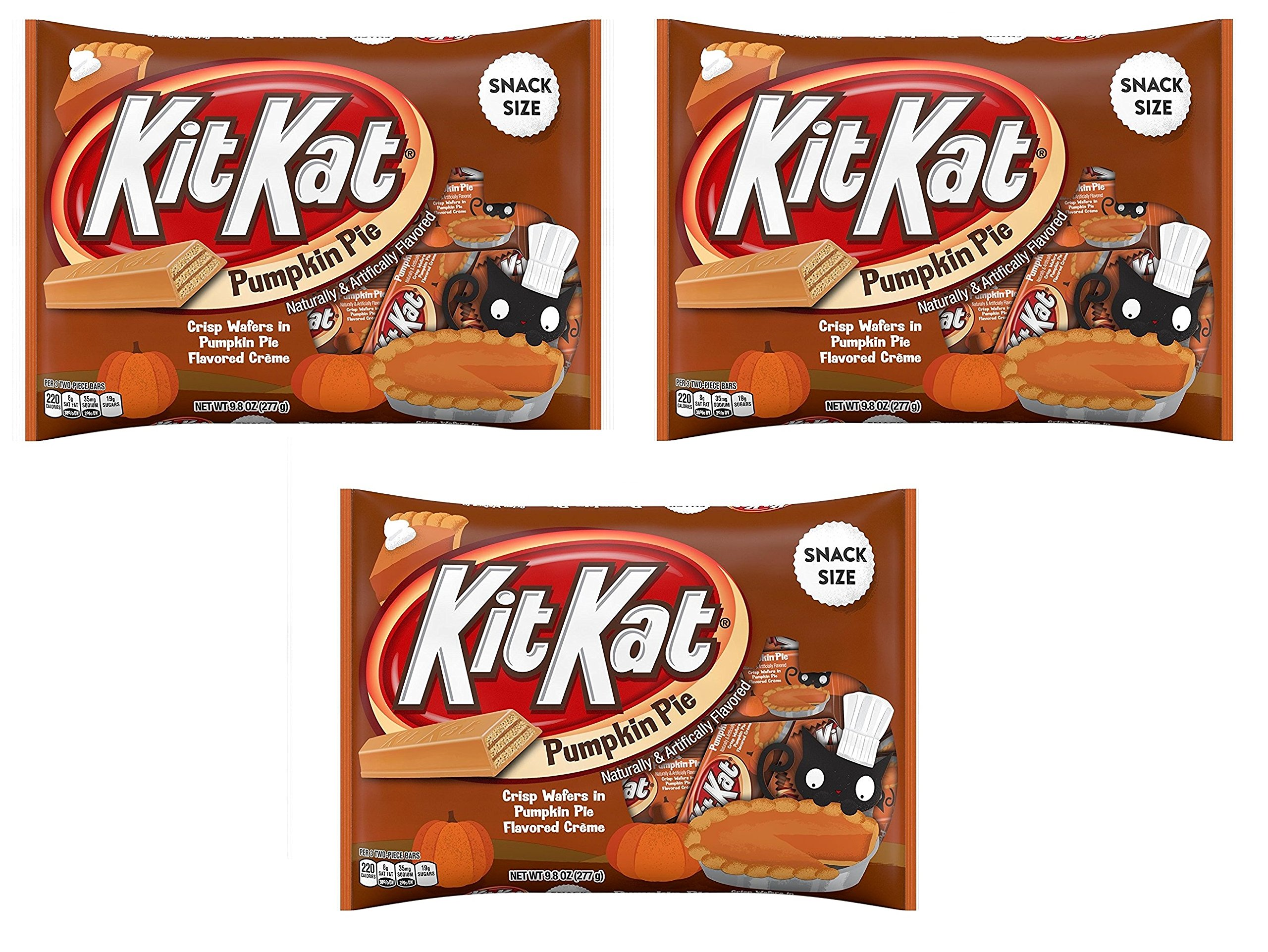 KitKat Pumpkin Pie Snack Size Crisp Wafers 9.8oz (Pack of 3) by Kit Kat