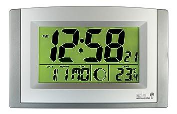 acctim stratus lcd radio controlled clock with smartlite amazon co rh amazon co uk