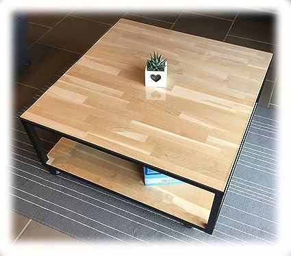 Indhouse - Mesa de centro en hierro y madera maciza Farrow ...