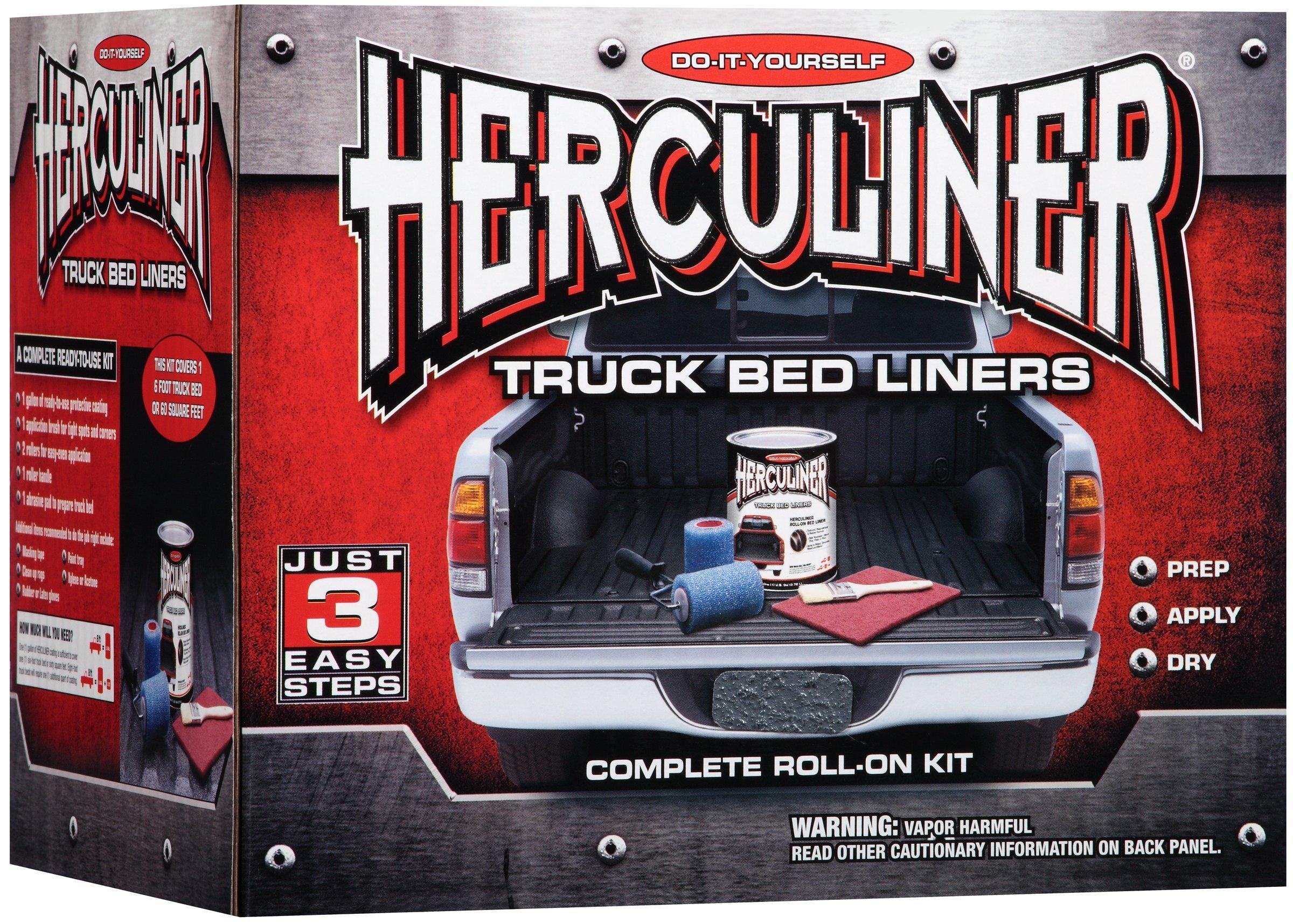 HERCULINER Black 6 foot Truck Bed Roll on Bedliner Kit