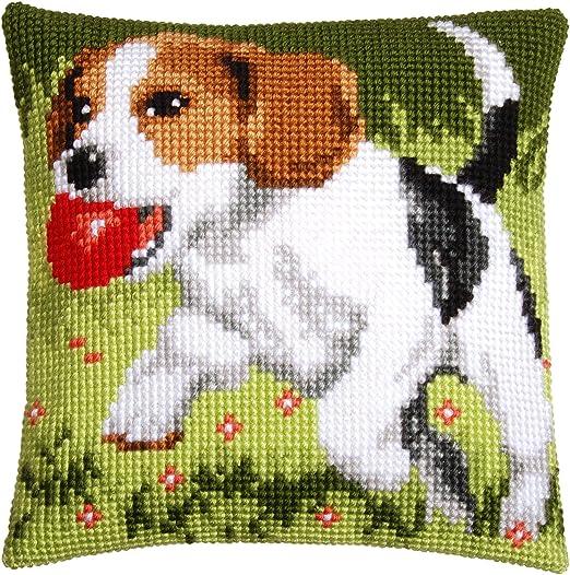 Vervaco - Kit para cojín de Punto de Cruz, diseño de Beagle ...