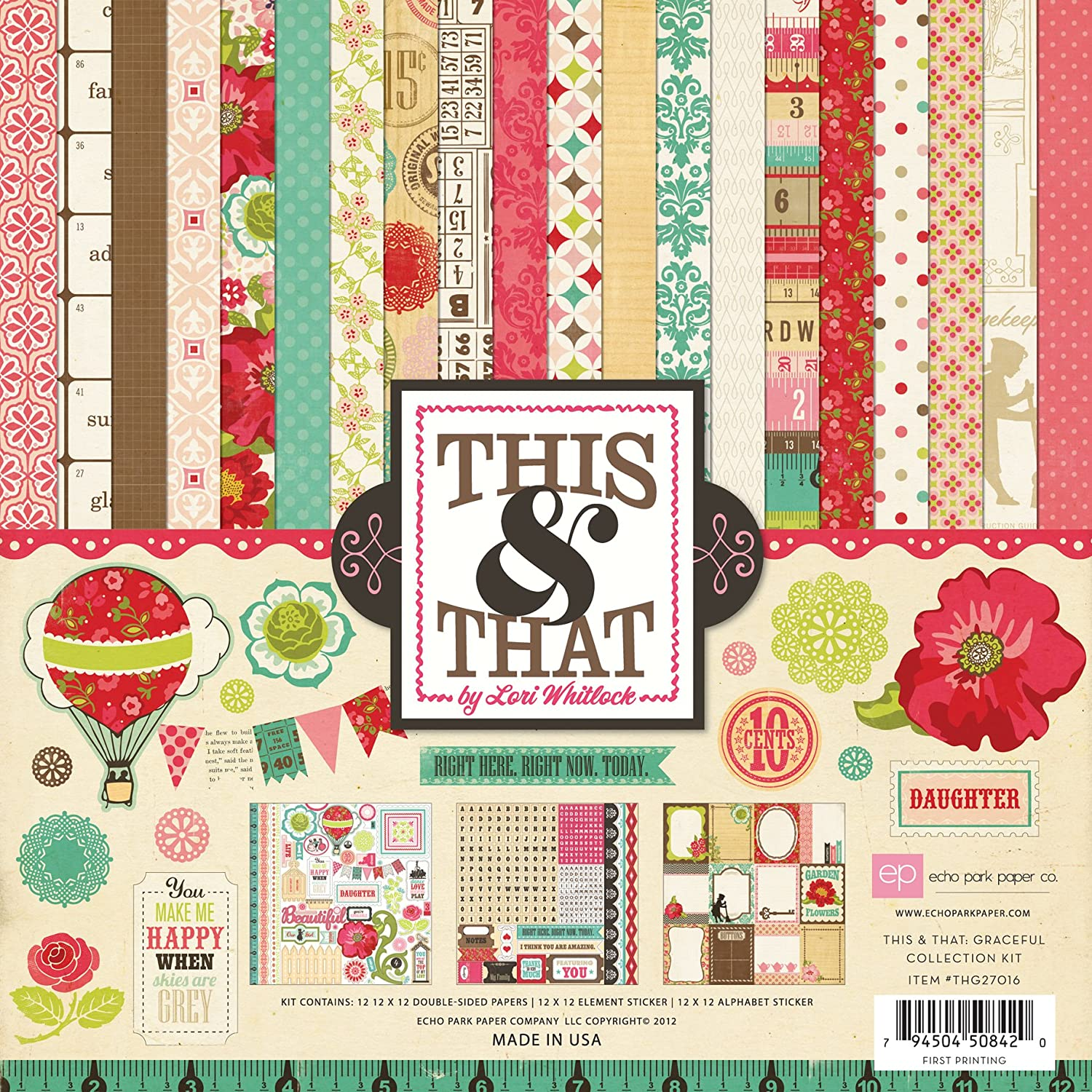 Echo Park Paper This /& That Graceful 12 by 12-Inch Collection Kit