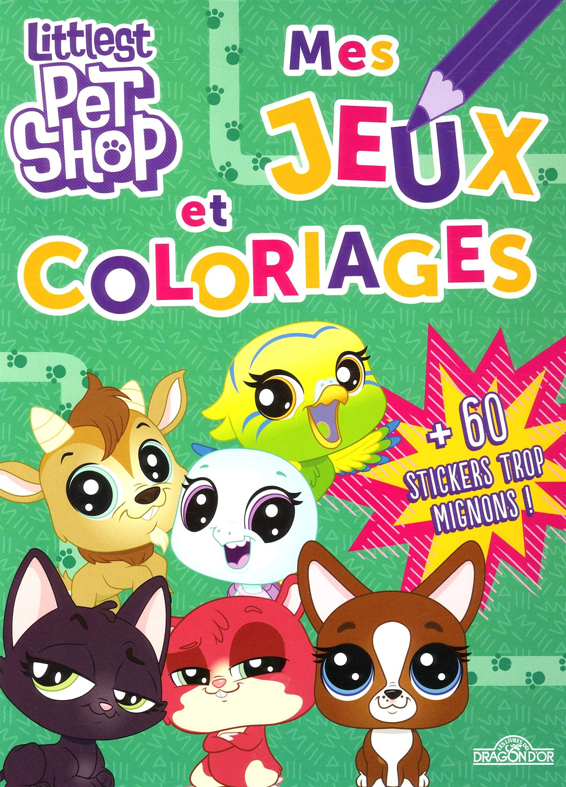 Littlest Pet Shop Mes Jeux Et Coloriages Amazonfr