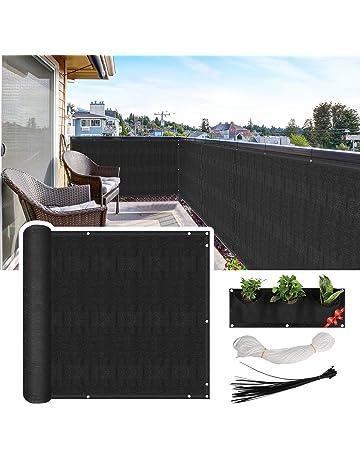 patio privacy screen 3x10 black