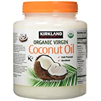 Kirkland Signature Cold Pressed Unrefined Organic Virgin Coconut Oil, 84 Ounce