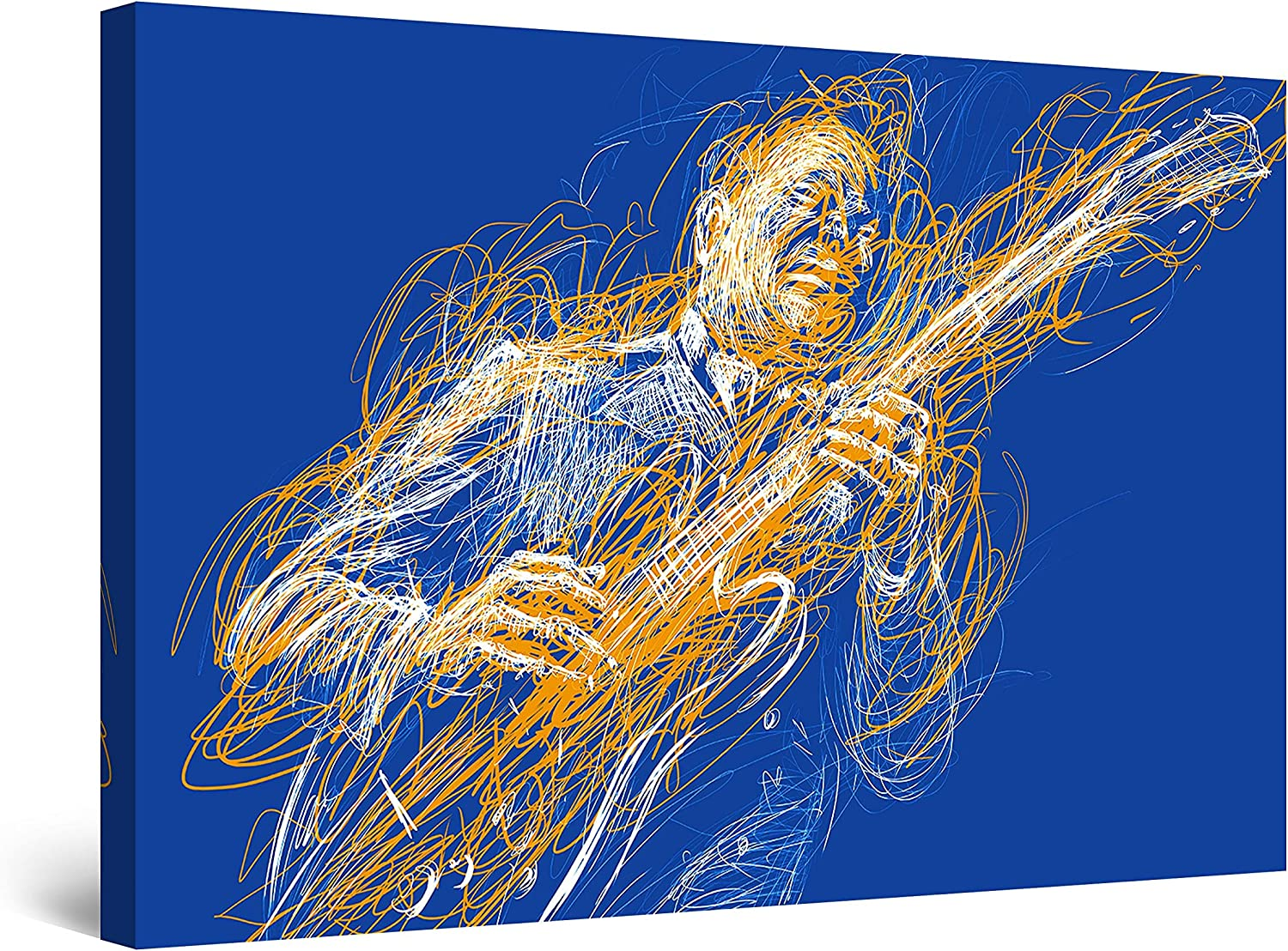 "Startonight Canvas Wall Art Decor Abstract Music Guitar Player Painting for Living Room 32"" x 48"""