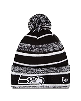 Image Unavailable. Image not available for. Colour  Seattle Seahawks New Era  2014 NFL Sideline On Field Sport Knit Hat - Black White 9bac77340