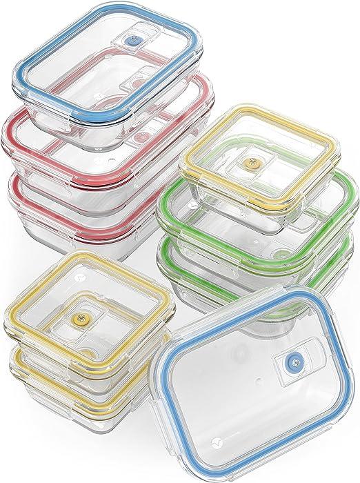 Amazon.com: Contenedores de vidrio para almacenamiento de ...