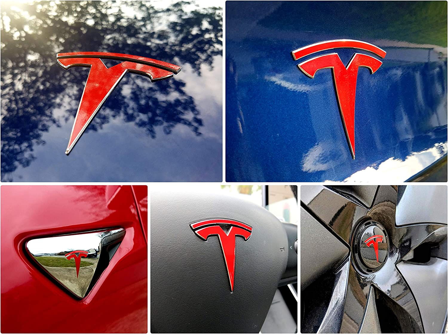 Tesla Model 3 Rear T Logo Accent High Cast Vinyl Decals Stickers Many Colors