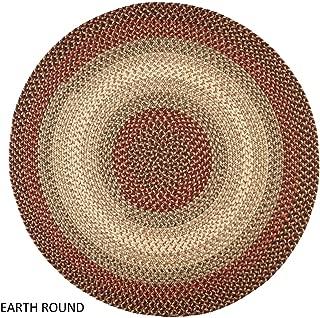 product image for Rhody Rug Ellsworth Indoor/Outdoor Reversible Braided Rug by Brown/Beige
