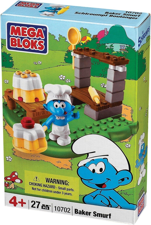 Amazon Com Smurfs Baker Smurf Mega Bloks Buildable Playset Toys Games