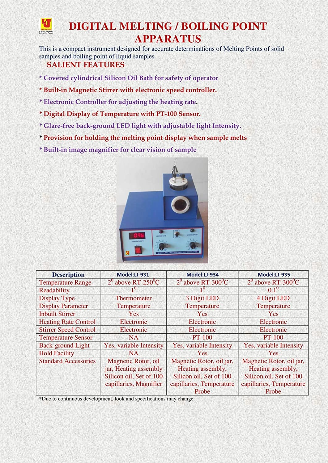 Lab Junction Melting Point/Boiling Point Apparatus 1°C