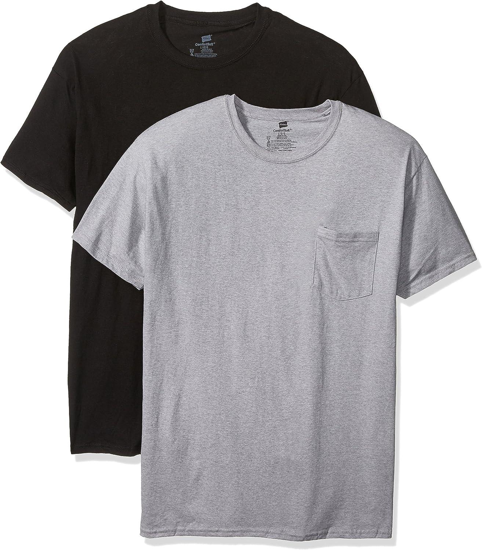 Black Dachshund Pocket Hanes Tagless Tee T-Shirt