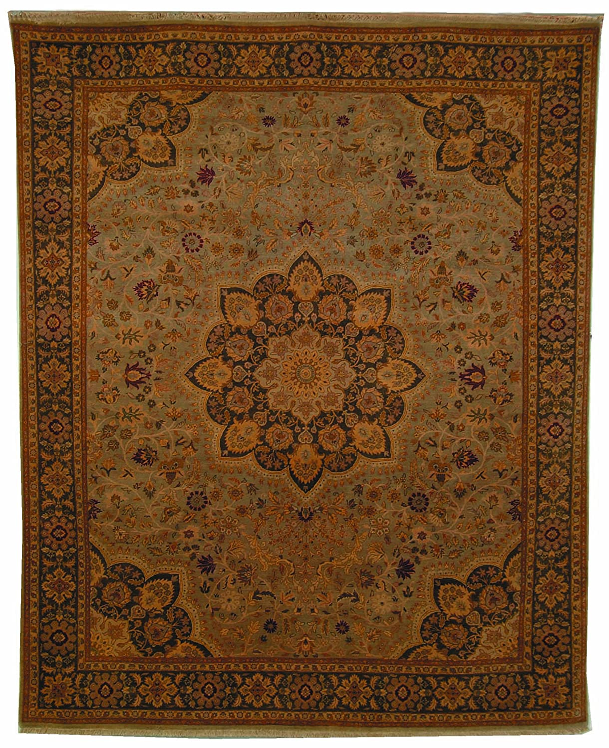 Amazon.com: Safavieh Lavar Collection LV25A Hand-Knotted Green Wool Runner (3 x 10): Kitchen & Dining