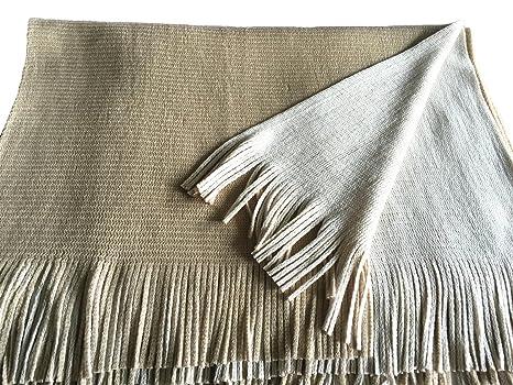 Makroyl Poncho en tricot réversible   écharpe de Noël pour femme - Beige - Taille  unique  Amazon.fr  Vêtements et accessoires 63de1c389ca