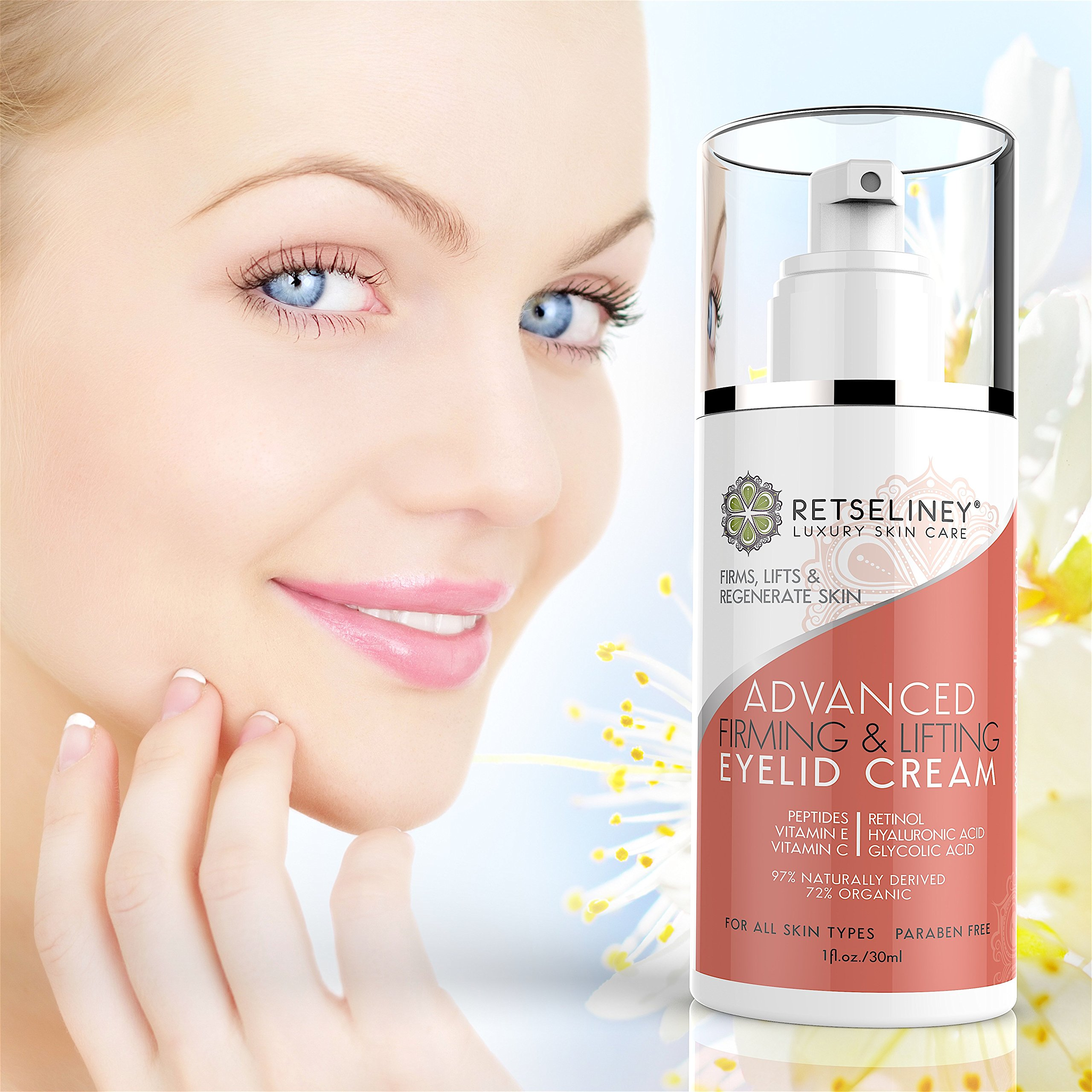 Retseliney Firming & Lifting Eyelid Cream, Firm and Tone Sagging and Drooping Skin on the Upper Eyelids, Anti-Wrinkle Moisturizer with Retinol, Peptides & Vitamin C, Anti-Aging Eye Cream for Daily Use by Retseliney (Image #8)