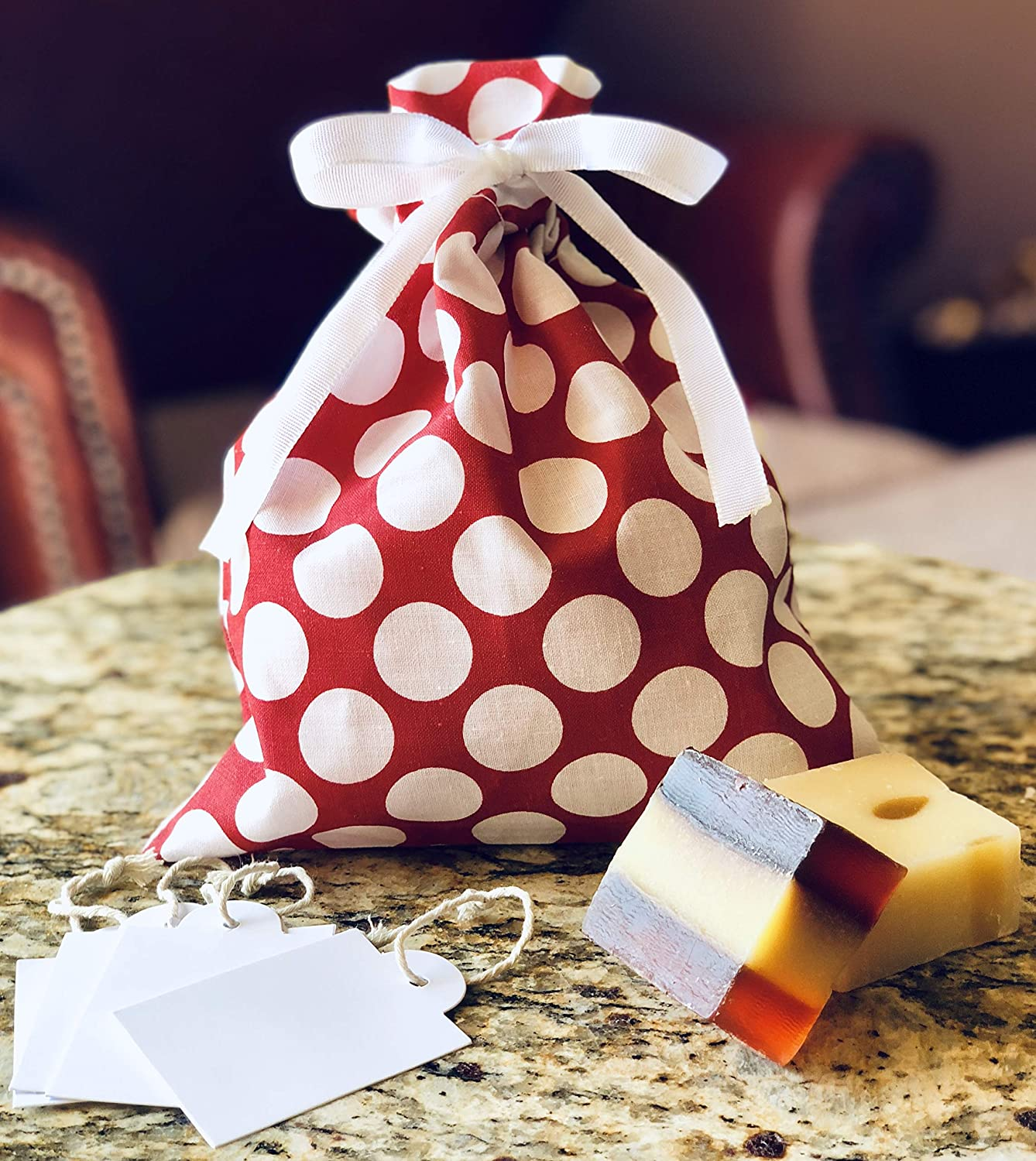 Gift Wrapping Geometric Reusable Gift Bags Drawstring Bags