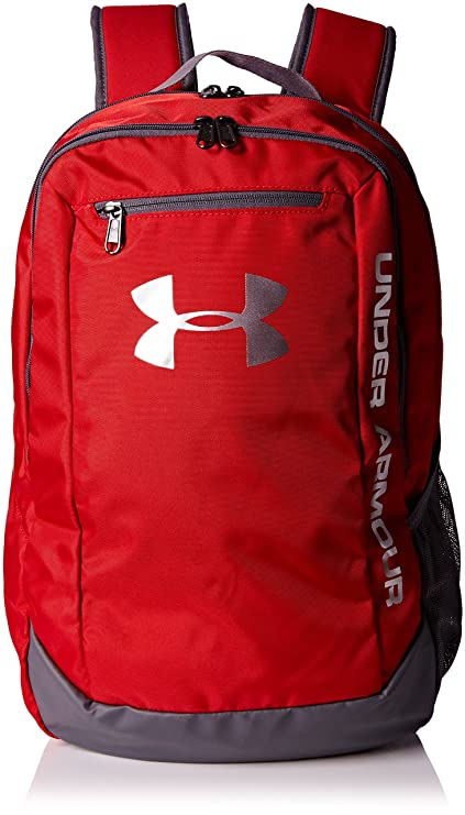 Amazon.com  Under Armour Hustle LDWR Backpack One Size Red  Sports ... 453ea32188488